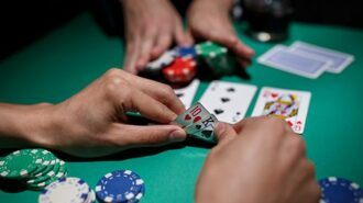 playing poker for money